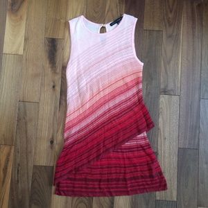 WHBM Pink, Peach, & Red Knit Layered Tunic